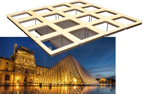照明设计团队以玻璃金字塔